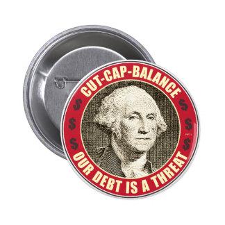 Cut Cap Balance 6 Cm Round Badge