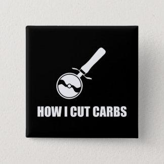 Cut Carbs Pizza Cutter 15 Cm Square Badge
