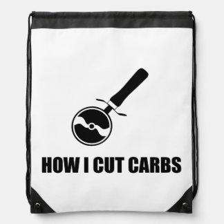 Cut Carbs Pizza Cutter Drawstring Bag