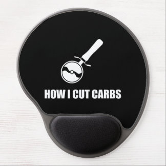 Cut Carbs Pizza Cutter Gel Mouse Pad