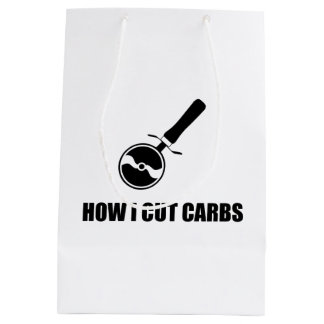 Cut Carbs Pizza Cutter Medium Gift Bag