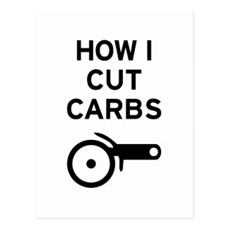 Cut Carbs Postcard
