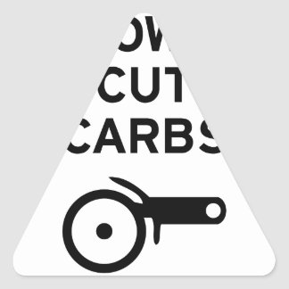 Cut Carbs Triangle Sticker