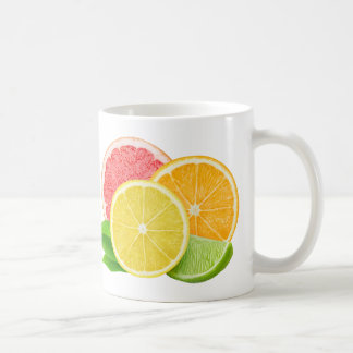 Cut citrus fruits coffee mug