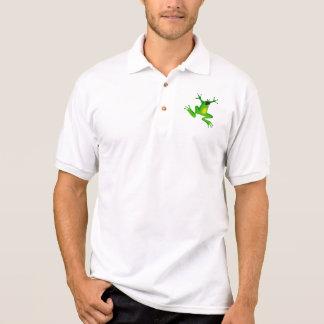 Cut class, not frogs! polo shirts