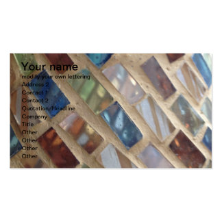 cut colored glass mosaic business cards