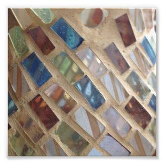 cut colored glass mosaic photo print