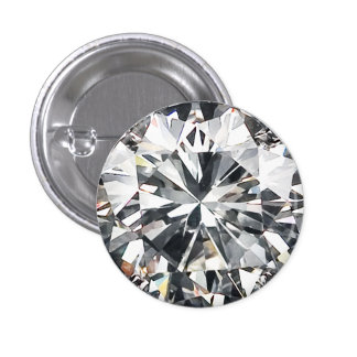 Cut Diamond 3 Cm Round Badge