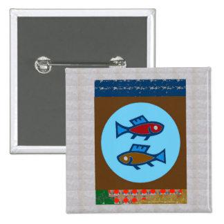CUT FISH Cartoon KIDS Pet Greetings GIFTS 15 Cm Square Badge