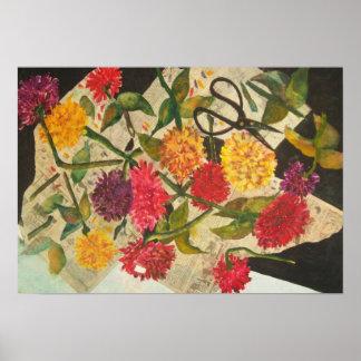 Cut flowers print
