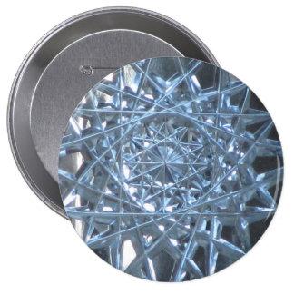 Cut Glass 10 Cm Round Badge