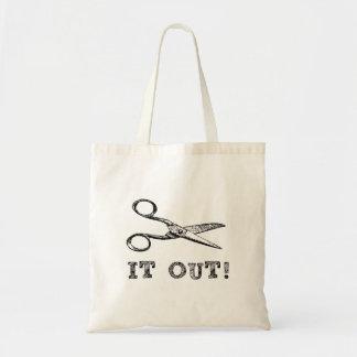 Cut It Out Scissors Tote Bag