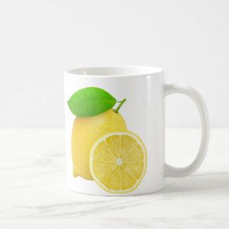 Cut lemon basic white mug