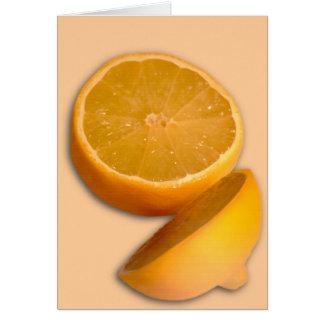 Cut Lemon Card