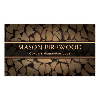 Cut Logs Firewood Supply Business Card