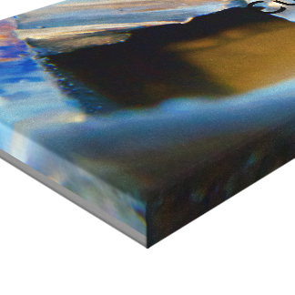 Cut Metal Colors Duo Stretched Canvas Print