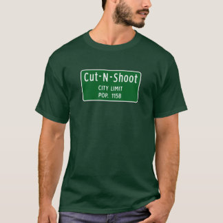 Cut-N-Shoot, Road Marker, Texas, USA T-Shirt