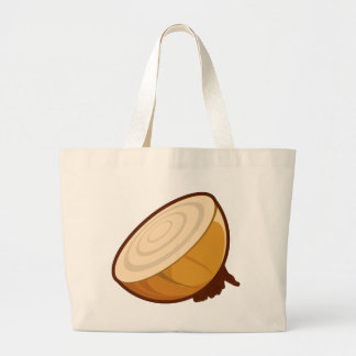 Cut Onion Large Tote Bag
