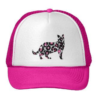 Cut Out Bling Cheetah Kitty Trucker Hats