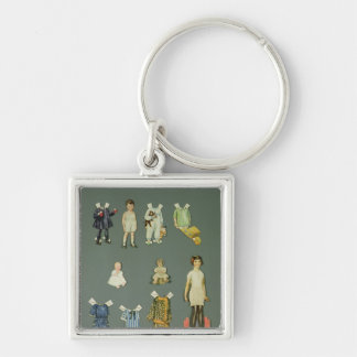 Cut out doll and clothes, late 1920s-early 1930s keychains