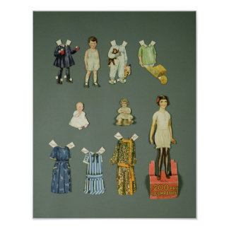 Cut out doll and clothes, late 1920s-early 1930s posters