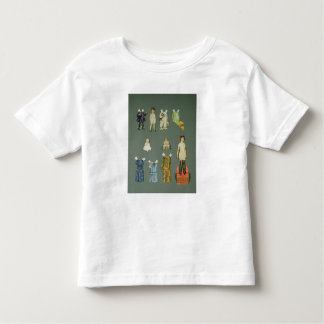 Cut out doll and clothes, late 1920s-early 1930s t-shirts
