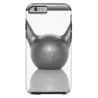 Cut out of a kettle bell on white background tough iPhone 6 case