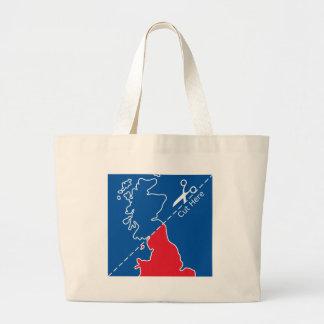 Cut Scotland from Britain map Tote Bag