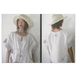 Cut & Sew Fashion Boho cross stitch embroidery top Fabric