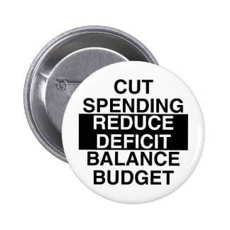 cut spending, reduce deficit, balance budget pin