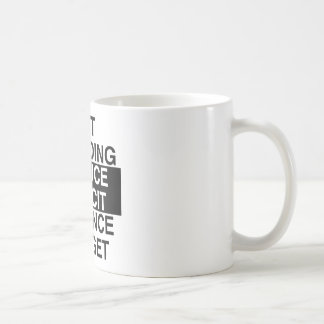 cut spending, reduce deficit, balance budget basic white mug