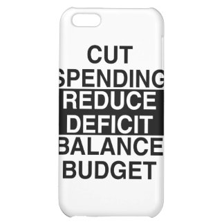 cut spending, reduce deficit, balance budget iPhone 5C cases