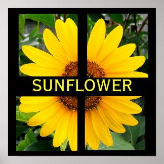 Cut Up Sunflower Poster