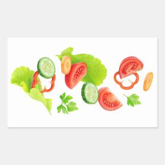 Cut vegetables rectangular sticker