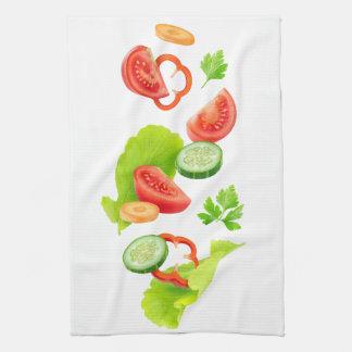 Cut vegetables tea towel