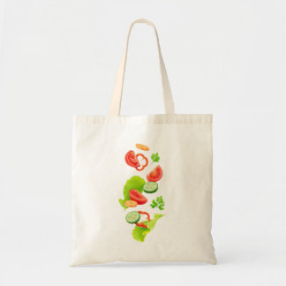 Cut vegetables tote bag