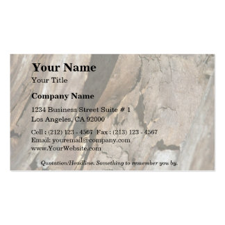 Cut wood close-up business card