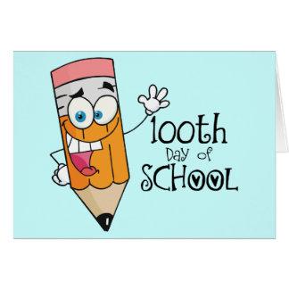Cute 100th Day Of School Cartoon Gift Greeting Card