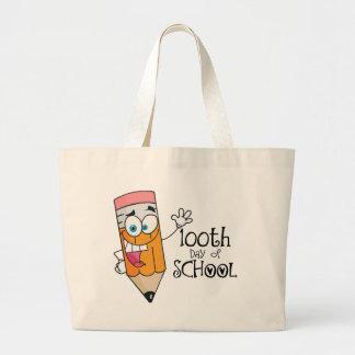 Cute 100th Day Of School Cartoon Gift Jumbo Tote Bag
