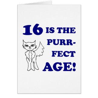 Cute 16th Birthday Present Card