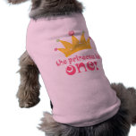 Cute 1st Birthday The Princess Is One Gift Sleeveless Dog Shirt