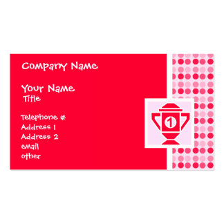 Cute 1st Place Trophy Business Card Template