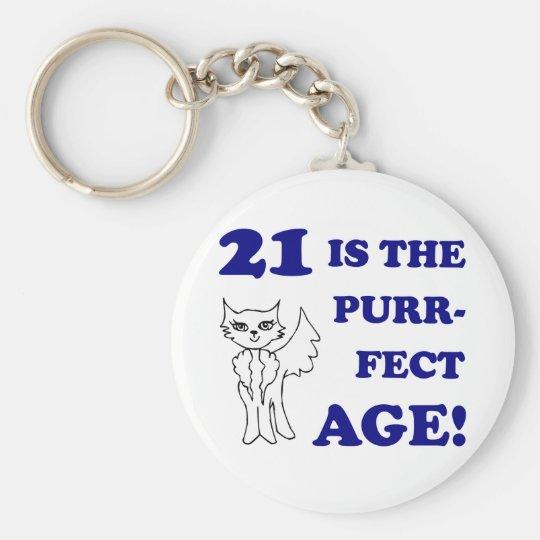 Cute 21st Birthday Present Key Ring
