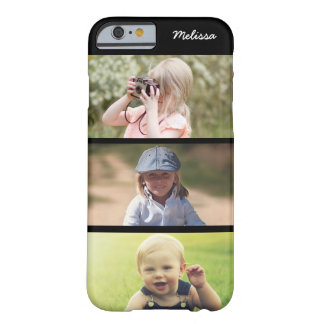 Cute 3 Photo Personalized Kids iPhone 6 6s Case