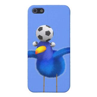Cute 3d Bird plays Football (editable) iPhone 5/5S Cover