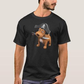 Cute 3d Dog Pirate (editable) T-Shirt