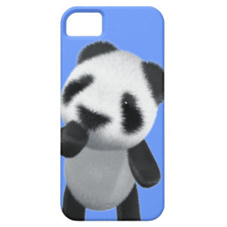 Cute 3d Panda Thinks (editable) Case For The iPhone 5