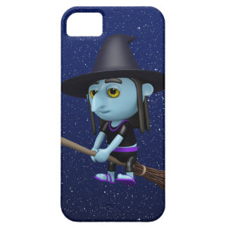 Cute 3d Witch Flying Broomstick (editable) iPhone 5 Case