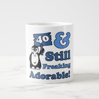 Cute 40th Birthday For Women Large Coffee Mug