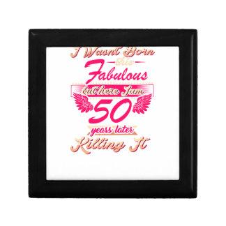 Cute 50th year birthday party gift tshirt gift box